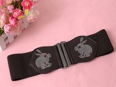 Women's Rhinestone Rabbit Waistband on BuyTrends.com, only price $5.32