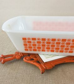 Mod Kitchen Duo Glasbake Loaf Pan with Retro by PineStreetPickers