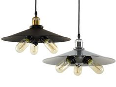 Please, specify availability of fixtures before ordering. Let me introduce these stylish Loft-style pendant lights. The plafond is made of steel. This lamp will perfectly decorate any room, office, café, bar or restaurant. You can use a light bulb which you prefer – incandescent, CRL, Edison bulb or LED up to 60W. Lamp base is E27 (interchangeable with E26). Can be used worldwide. Suitable for 110-120/220-240V. These light fixtures are available in two colors: black and chrome Choose a ...