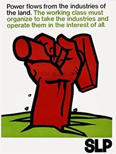 PROPAGANDA POLITICAL SLP SOCIALIST LABOR PARTY USA FIST HAMMER RED 18x24 INCH ART POSTER PRINT PICTURE LV7027
