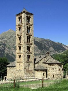Sant Climent de Taüll is located in Taüll in municipality of Valley of Boí, in the province of Lleida,  Spain - The exact date of construction is unknown however the church was consecrated on December 10, 1123. It is a Romanesque style church. The bell tower is an example of Byzantine influence because it stands out for its verticality. The church was intended as a place for Christian worship, unlike other churches of the time, which were intended as a pilgrimage.