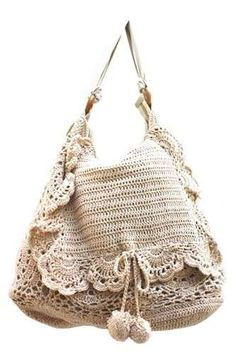 crochet handbags Moda tricot - Borsa tricot ricamata Get started, summer will be here quicker than you think!-) very boho chic Bag Crochet, Crochet Handbags, Crochet Purses, Love Crochet, Crochet Crafts, Crochet Projects, Crochet Hippie, Market Bag, Knitted Bags