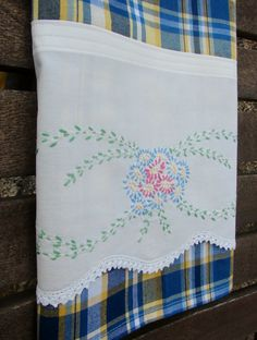 Flower Garden Posie Patch Tea Towel Recycled by TwoGirlsLaughing