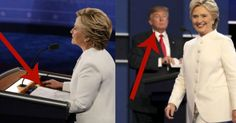 Trump Exposes What Hillary Wrote During Debate After He Snuck A Quick Look