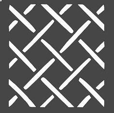 Basketweave Stencil (Style 3) - 12x12