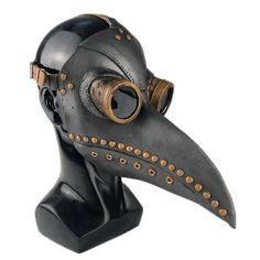 Steampunk Bird, Style Steampunk, Steampunk Halloween, Steampunk Fashion, Steampunk Armor, Medieval Plague Doctor, Plague Doctor Mask, Plague Mask, Plague Dr