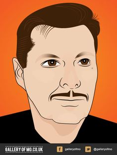 Portrait from 2011's Gallery of Mo. Nigel Dixon donated £10.00 to Movember and had a portrait created by Adam Campion. www.galleryofmo.co.uk