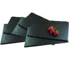 Get Goods - Tovagliette all'americana/piatto per formaggi rettangolari, in ardesia naturale: Amazon.it: Casa e cucina