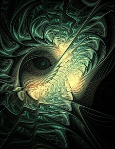 The Watcher / Fractal art by Amanda Moore