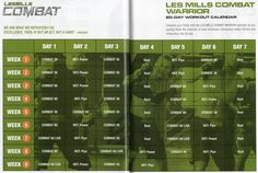 Les Mills COMBAT Schedule. Starting this as soon as it comes in the mail!!!! So excited!!!