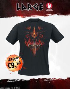 Deal van de dag! #Diablo liefhebbers opgelet. Dit Diablo 3 t-shirt is alleen vandaag voor € 9,99 verkrijgbaar. Klik op de afbeelding voor het artikel.