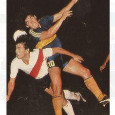 Diego y Passarella,1981.Gano Boca 3:0