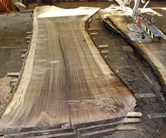 """Black Walnut Slab-  Walnut is a wonderfully """"workable"""" wood, perfect to use for furniture & cabinetry."""