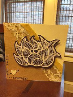 Lotus Valentine's Day card