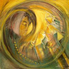 Im Schoss der Erde / Element Erde, Eitemperamalerei von Hans-Jakob Bopp