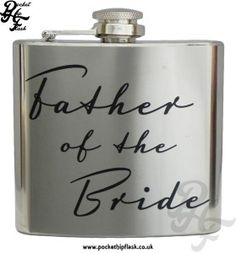 Wedding Hip Flasks, Personalised Hip Flask, Usher Gifts, Engraving Fonts, Father Of The Bride, Thank You Gifts, Our Wedding, Stainless Steel, Thank You Presents