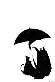 Image result for anime girl black and white