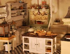 Dollhouse Farmhouse kitchen detail from In Payne  Dollhouses