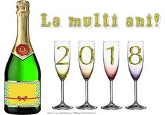 La multi ani 2018! New Year 2018, Nouvel An, Flute, Champagne, Tableware, Funny, Dinnerware, Tablewares, Funny Parenting