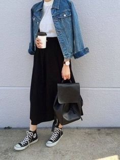 61 Trendy Ideas For How To Style Converse Outfits Casual Hijab Fashion Casual, Casual Hijab Outfit, Muslim Fashion, Modest Fashion, Korean Fashion, Casual Outfits, Fashion Outfits, Sneakers Fashion, Fashion Clothes