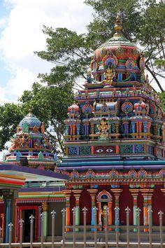 Hindu Temple, Nadi, Fiji - such a vivid wonderful sight at the end of Nadi's main street