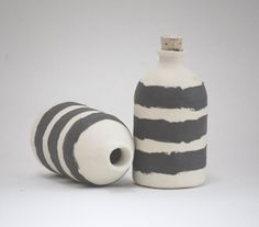 Pair of Black and White Striped Bitters or by honeycombstudio, $32.00