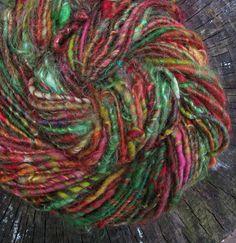Rainbow Chard  corespun handspun pygora art yarn