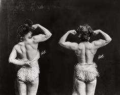 Strongwoman. Photos of women in the circus by Frederick W. Glasier, ca. 1901-1928. #edwardian #photography