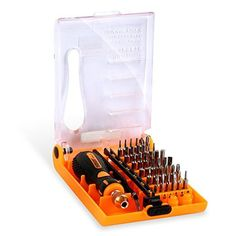 Jakemy JM-8153 38 in 1 Precision Screwdriver Set with Tweezers, for Household, Mobile, Cell phone, Tablet, Laptop, Electronics, DIY Models and Other Home Appliances