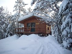 Never mind about the first cabin...this canoe-in remote cabin looks like the perfect place to relive the honeymoon!