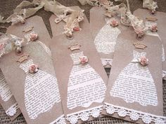 French Script Bridesmaid Tags Set of 8  by AnneMariePaperie, $30.00