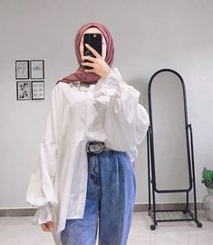Hijab Fashion Summer, Modest Fashion Hijab, Korean Girl Fashion, Modern Hijab Fashion, Street Hijab Fashion, Casual Hijab Outfit, Hijab Fashion Inspiration, Muslim Fashion, Casual Outfits