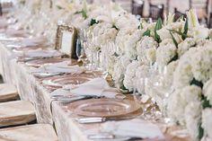 Lush white centerpieces  VUE photography