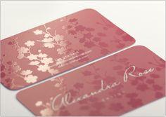 really pretty silk biz cards $190 for 500