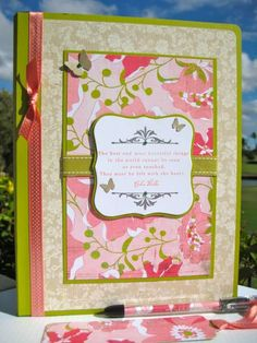 Altered Composition Book by wahinelei - Cards and Paper Crafts at Splitcoaststampers