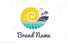 Logo for sale: Nautilus Beach Logo by mochawalk uploaded on Logo is combination of nautilus shell and sea/beach. Travel Agency Logo, Travel Logo, Sea Logo, Flower Art Drawing, Bird Logos, Coffee Logo, Music Logo, Care Logo, Abstract Logo