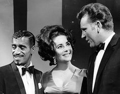 ", Elizabeth Taylor, Richard Burton in ""The Sammy Davis Jr. Show"" in 1966 Celebrity Singers, Celebrity Couples, Celebrity Photos, Old Hollywood Stars, Classic Hollywood, Hollywood Divas, Elizabeth Taylor, Burton And Taylor, Sammy Davis Jr"