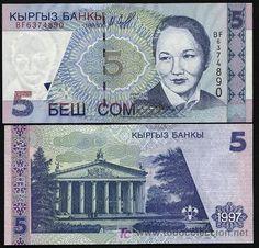 Kirguistan. Billete de 5 som 1997