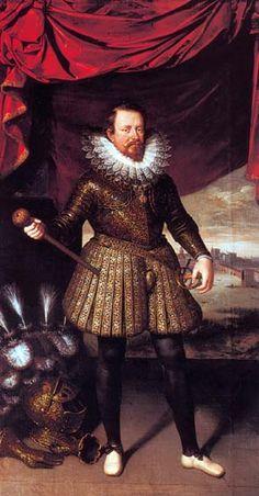 Поурбус, Франс младший (1569 — 1622) - Винченцо I  Гонзага, герцог Мантуи, муж Эленоры де Медичи (старшей сестры Марии Медичи, королевы Франции) (Collection Privée, Мантуя)