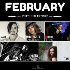 Our February featured artists are up on Music Talks! Go Check them out! #Tani #AgedTeen #JamieMeyer #AmbienceOfCarolina #FreddyLenz