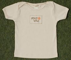 This super soft infant tee or one piece is just the kind of shirt you want your baby to have next to his/her skin. 100% certified organic cotton from Farmerkids Organics. $28 at slowlivingshop.com