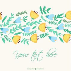 Spring flowers vector drawing