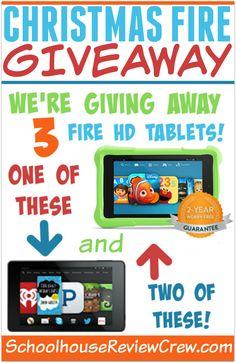3 Fire HD tablets!