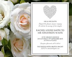 Wedding Invitation template  full heart by loveweddingtemplates