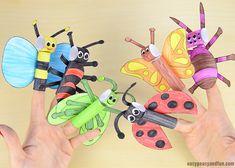 Printable Finger Puppet Bugs