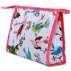Song Bird Bright Traditional Washbag