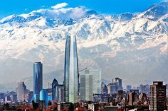 santiago chile skyline and Los Andes behind it Oh The Places You'll Go, Places To Travel, Places To Visit, World Cities, Countries Of The World, Beautiful Places, Beautiful Pictures, Skyline, South America