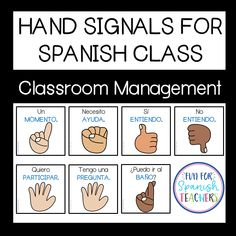 Hand Signals for Spanish Class