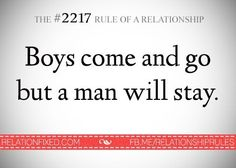 a man will stay