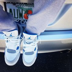 Jordan 4's Military Blue Sweats